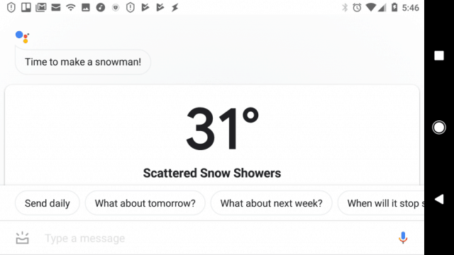 google assistant weather forecast