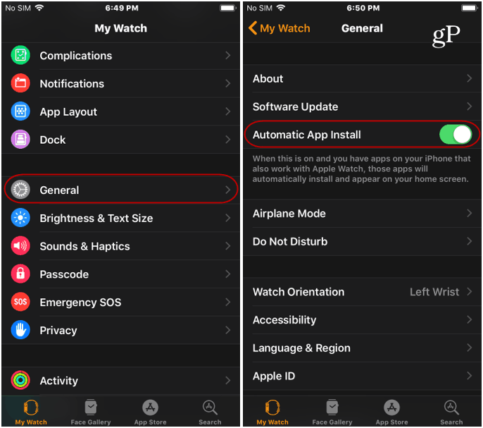 Automatic Install Apps to watchOS