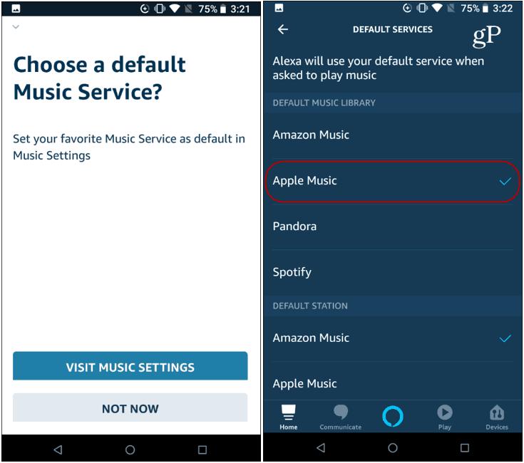Set apple music default Alexa
