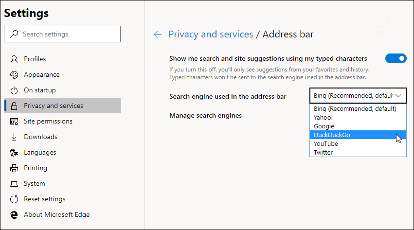 3 Chromium Edge Choose Default Search Engine