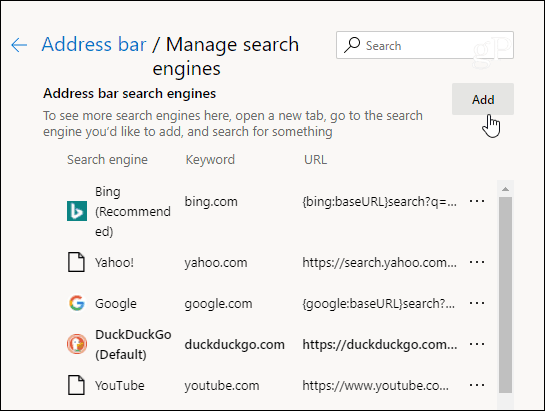 How to Change the Default Search Engine on Microsoft