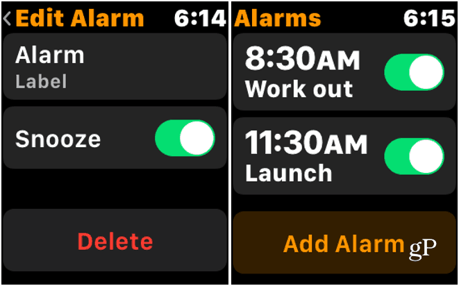 Delete Alarm Apple Watch
