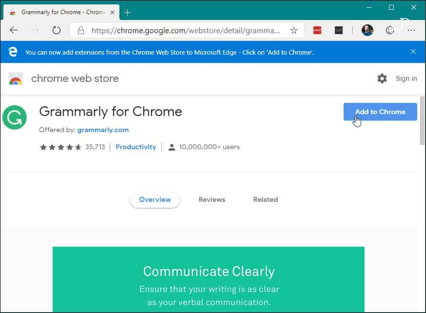 5 Install Chrome Extension Chrome Web Store Edge