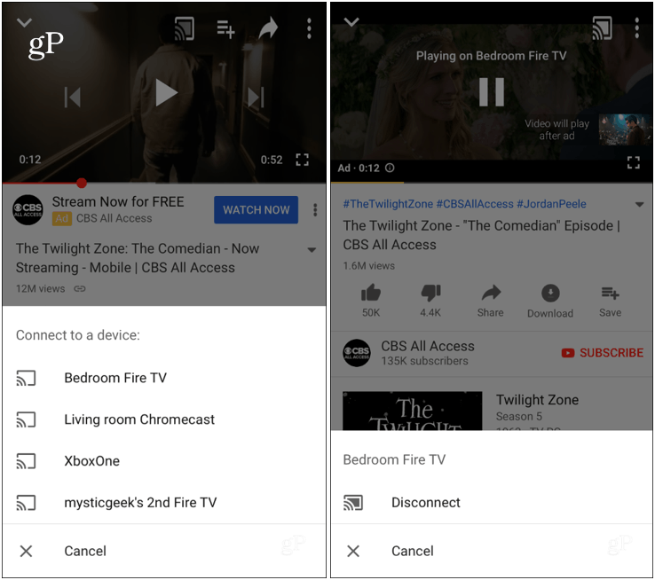 How to Cast YouTube Videos from Android or iPhone to Fire TV