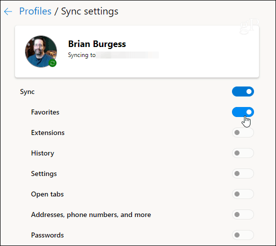 Chromium Edge Browser Sync