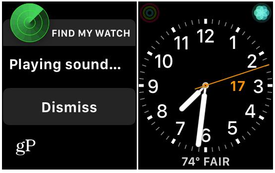 Find Apple Watch Sound Alert