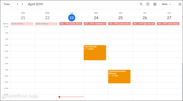 gsuite calendars