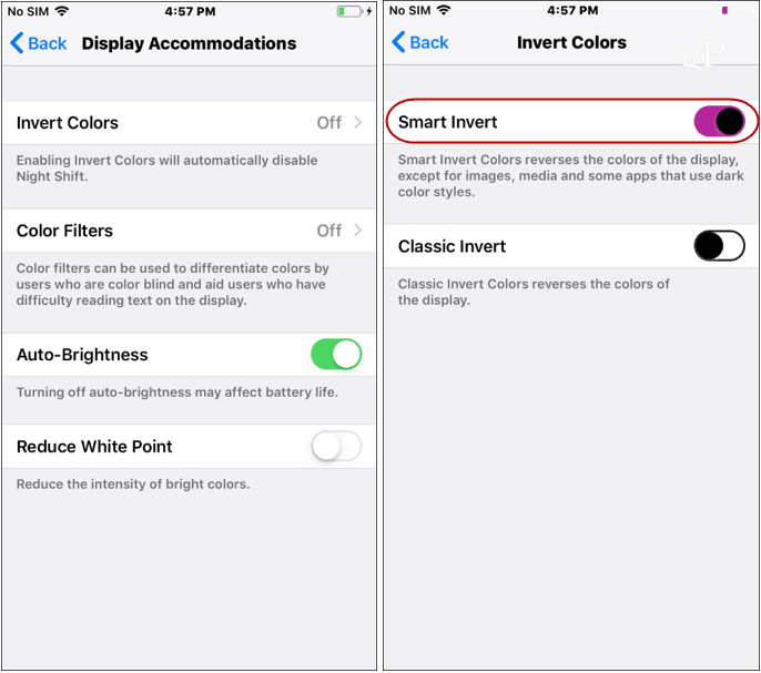 How to Enable a Dark Mode on iPhone or iPad with Smart Invert