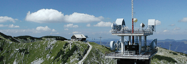 radio tower on a mountain in Austria