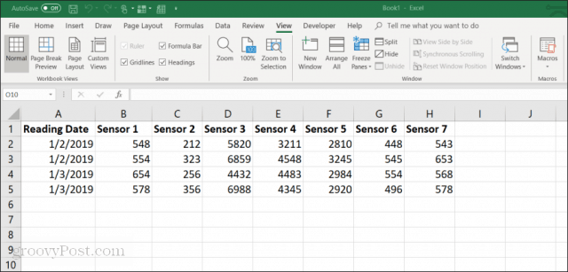 example excel spreadsheet