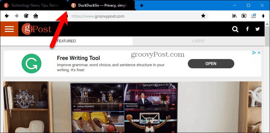 Black Material Design tabs in Firefox