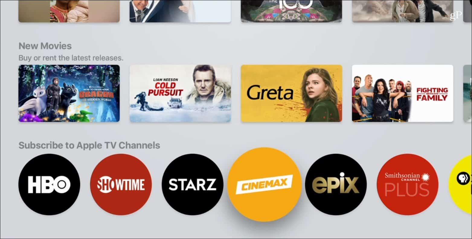 Apple TV Premium Channels