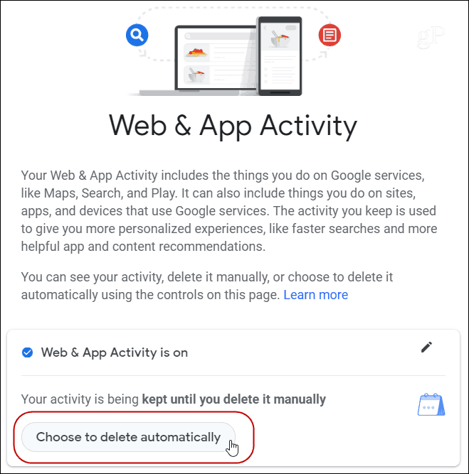 Browser auto-delete Google