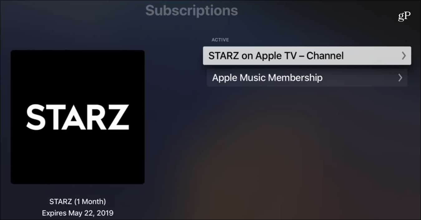Cancel Channel Subscription Apple TV