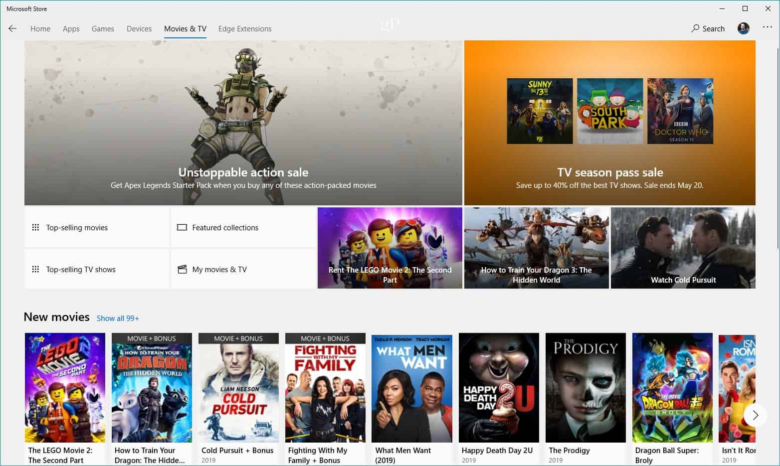 Microsoft Store Movies TV