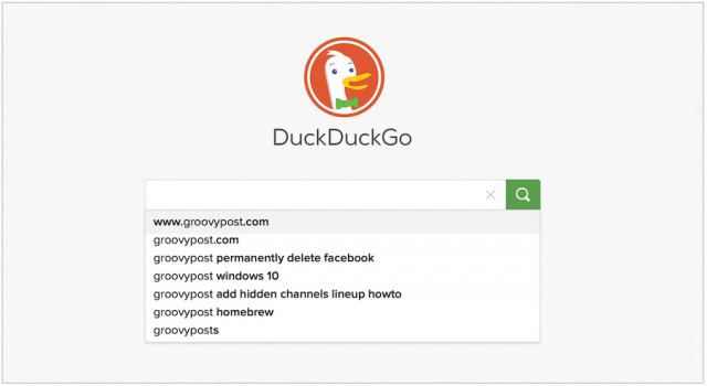 DuckDuckGo website