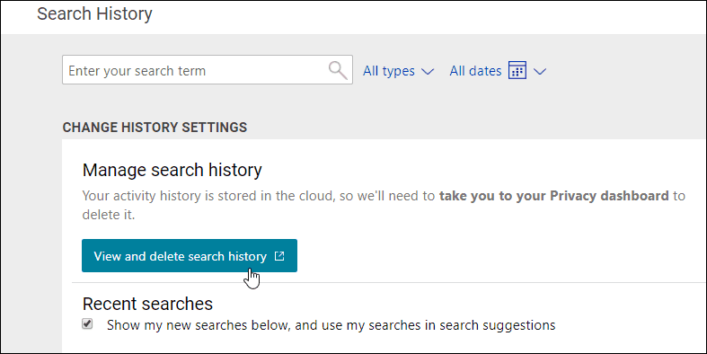 How To Clear Your Windows 10 Search History On Version 1903