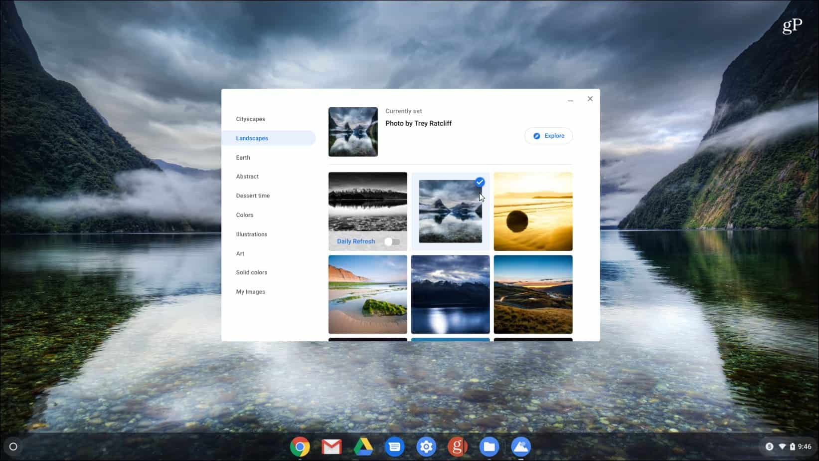 How to Change the Desktop Wallpaper on a Google Chromebook