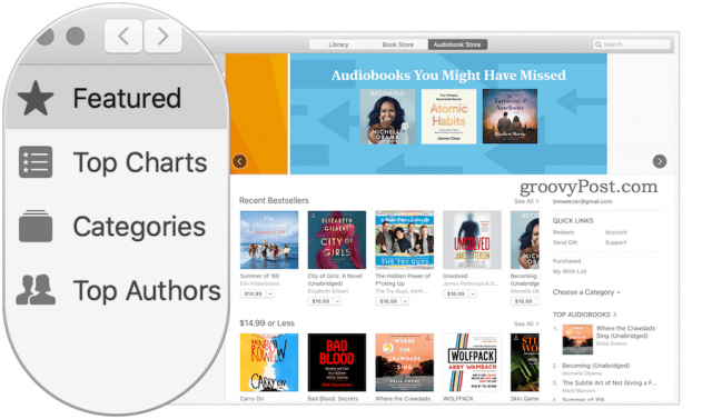 audiobooks on MacOS Catalina