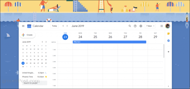 google calendar illustration