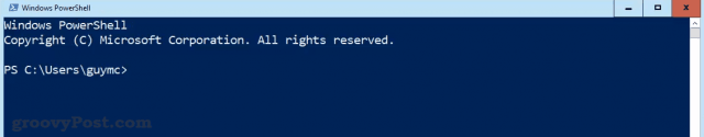 PowerShell at the Prompt
