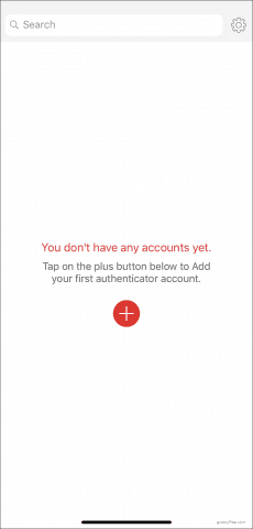 Adding an account into Authy