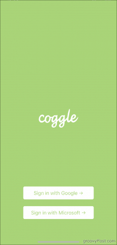 Coggle Main Screen