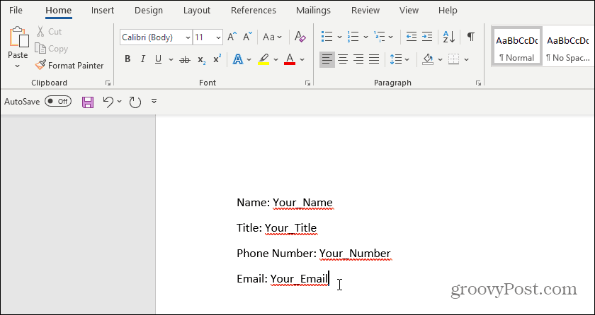 How to Create Fillable Forms in Microsoft Word