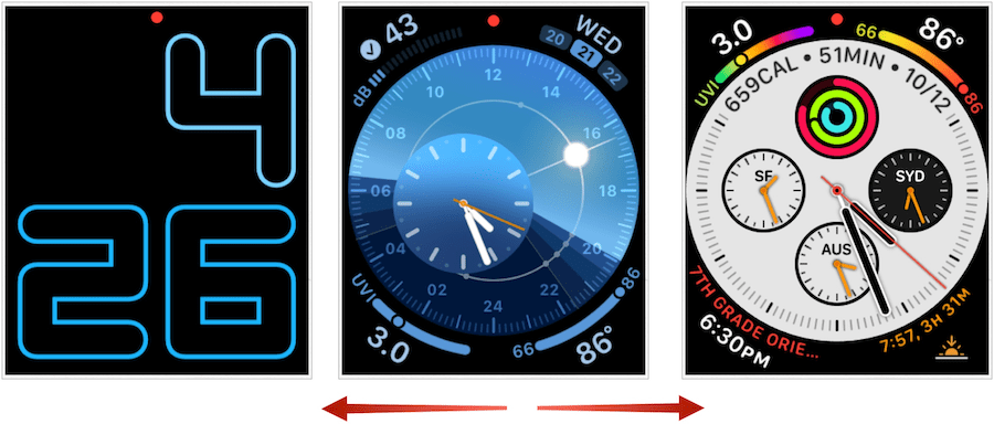 Apple Watch faces swiping