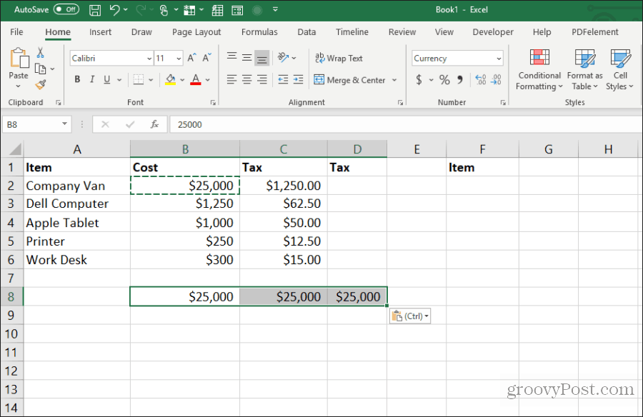 copy one cell to many in excel