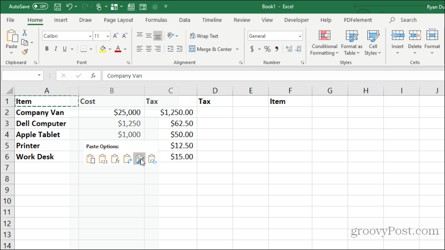 copy formatting in excel