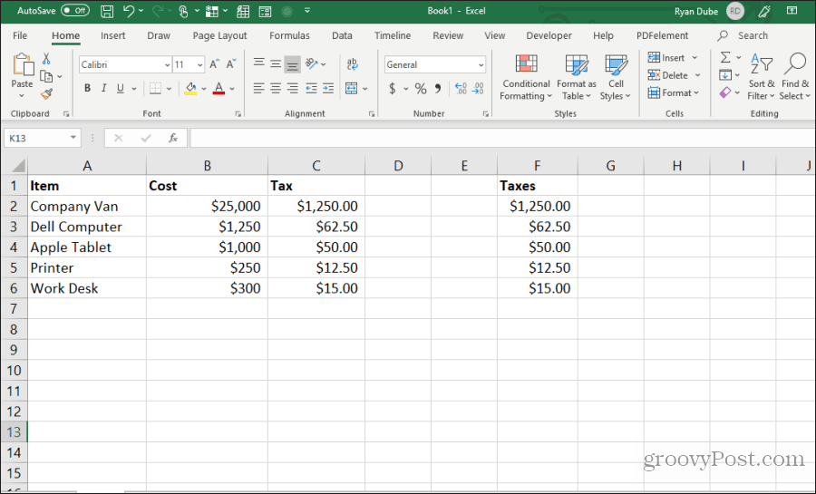 formula cells copy and pasted in Excel
