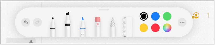 iPad Tool Palette