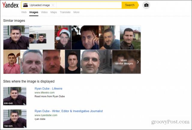 yandex face search
