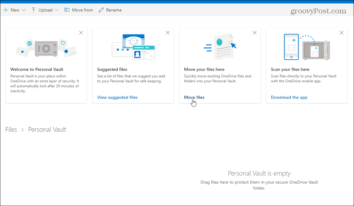 3 Add Files Personal Vault OneDrive