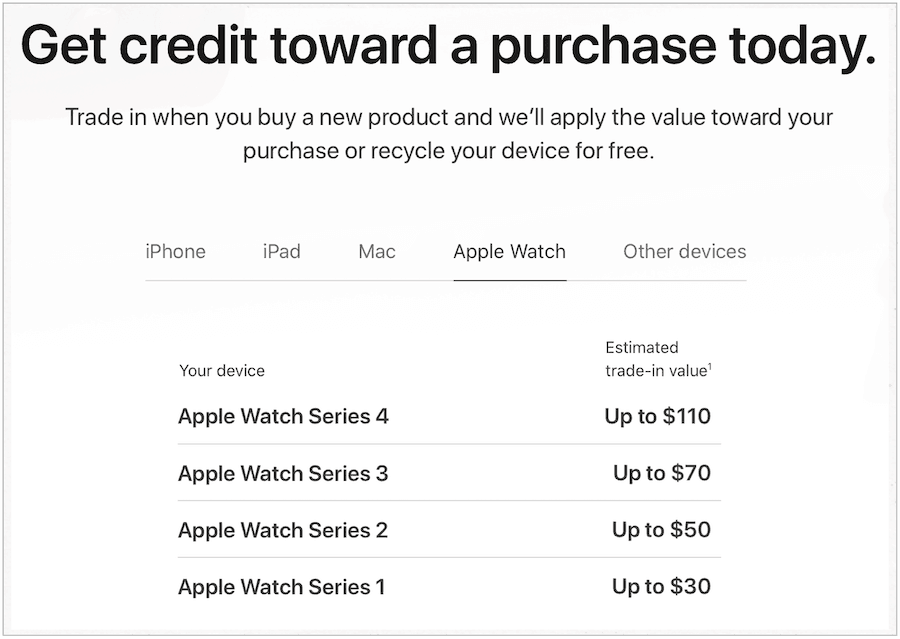 sell Apple Watch through apple