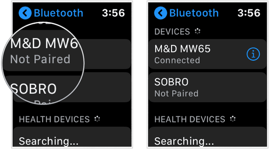 Apple Watch Bluetooth pairing