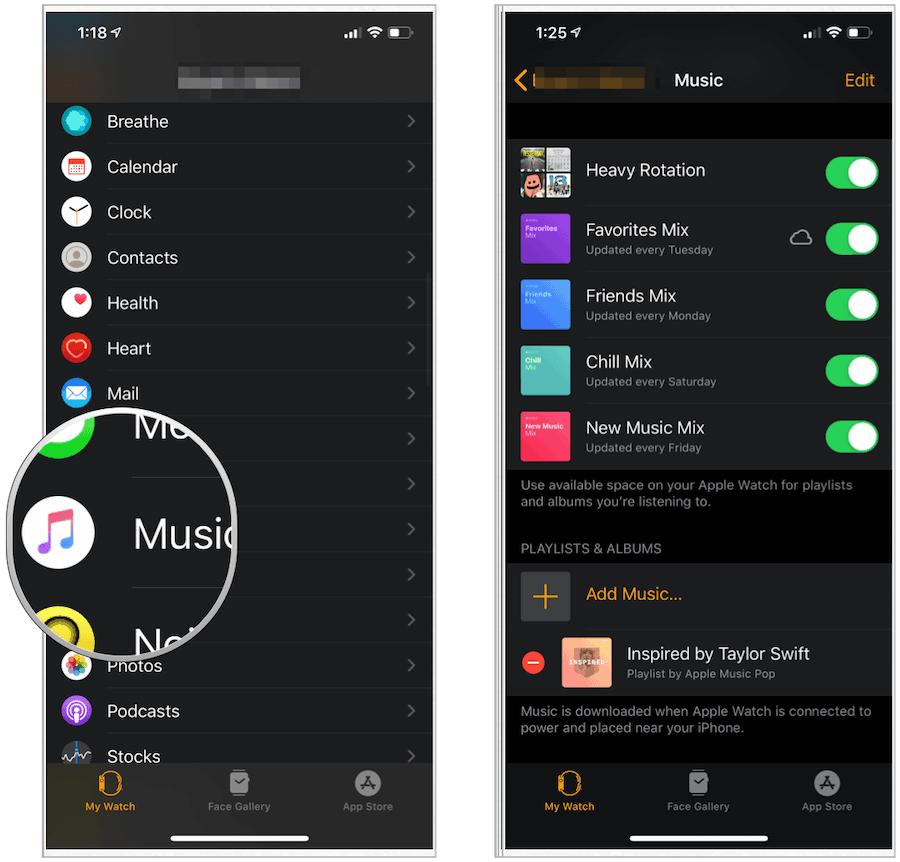 Music delete content
