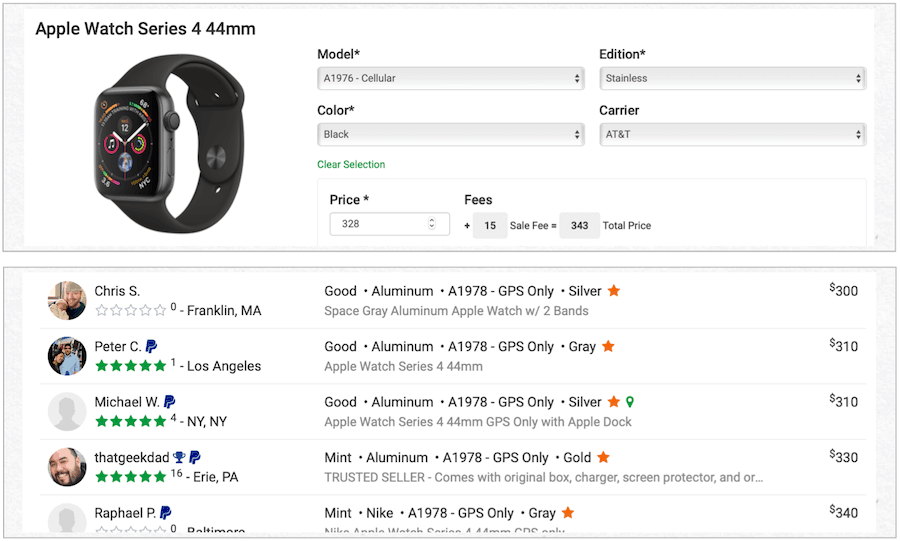 sell Apple Watch Swappa
