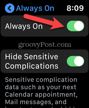 Deactivate always activated in the configuration of your Apple Watch