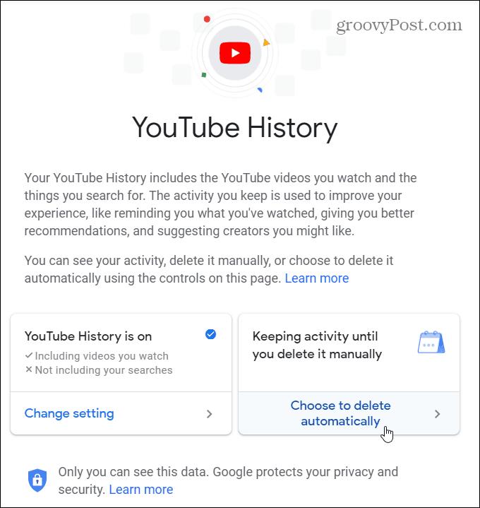 1 Auto Delete YouTube History