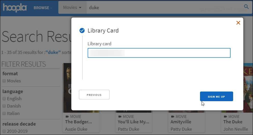 Enter Library Card