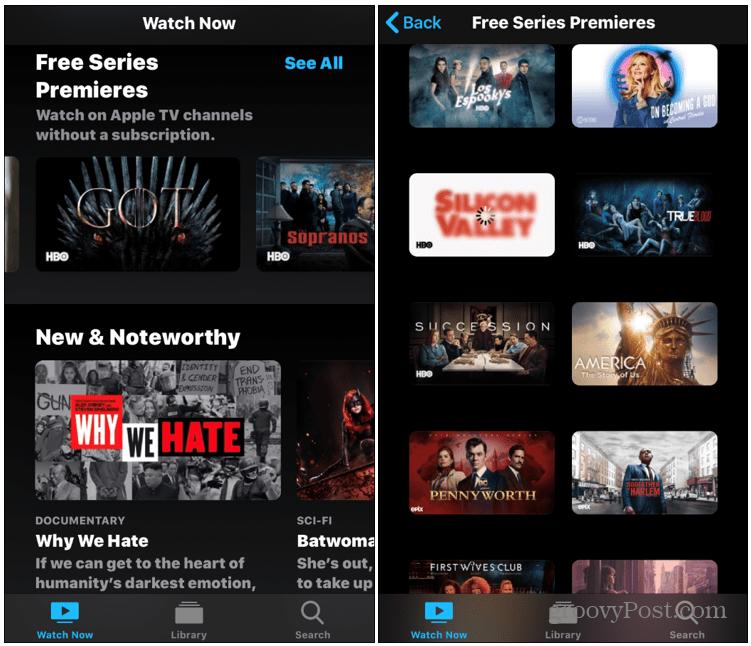 Free Premium Content Apple TV App