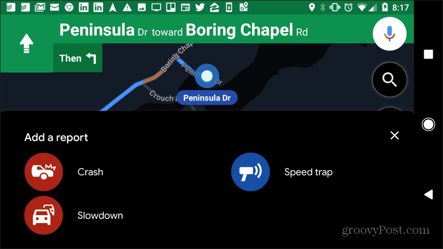 google maps police report