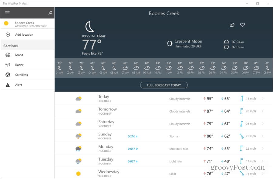 weather 14 days app