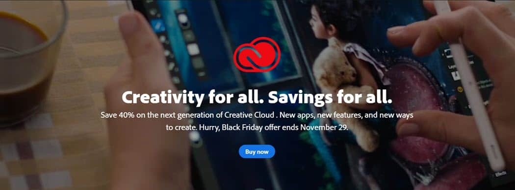 Check Out Adobe S Black Friday Deals On Creative Cloud Memberships