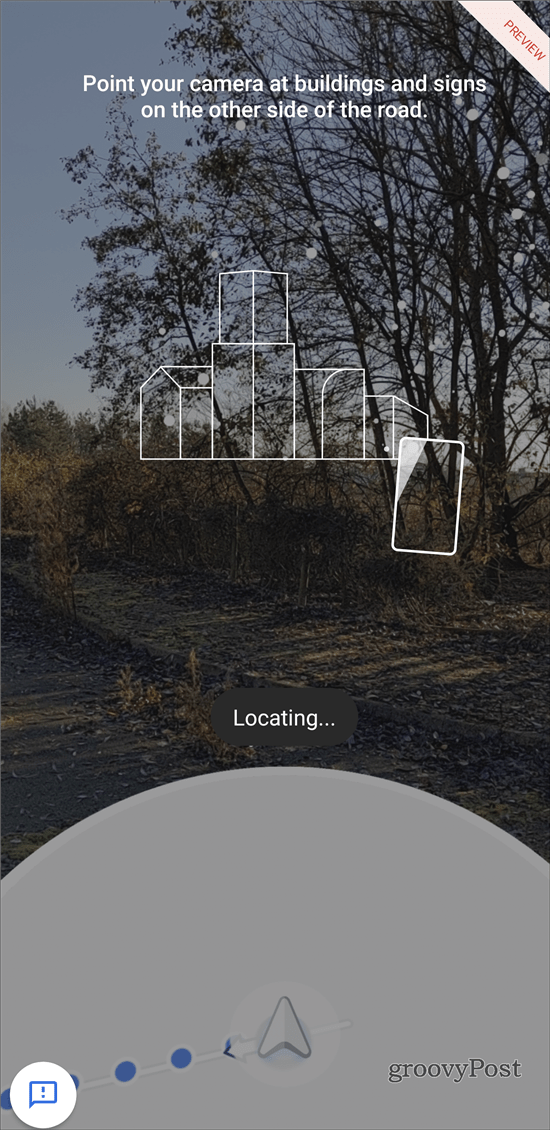 Google Maps AR navigation location