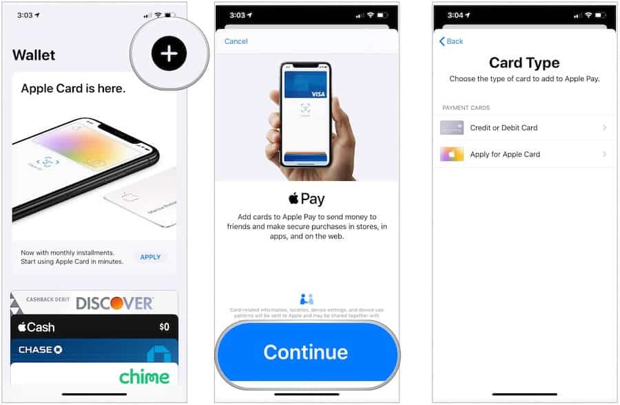 Apple Pay set up on iPhone