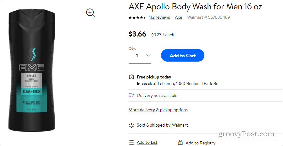 axe apollo price at walmart