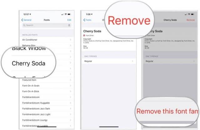 remove font
